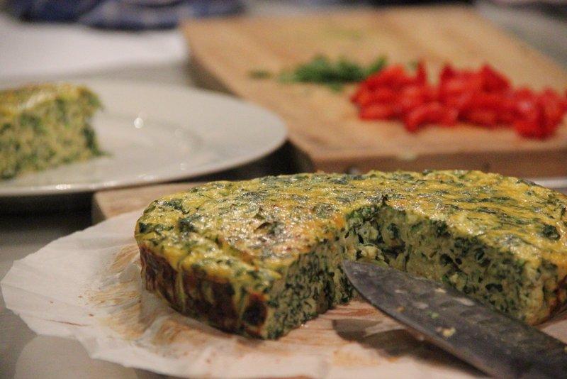 Gluten Free Green Frittata
